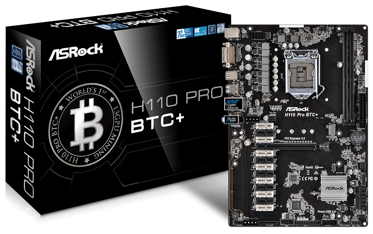 Asrock H110 Pro Btc Motherboard Review 1st Mining Rig