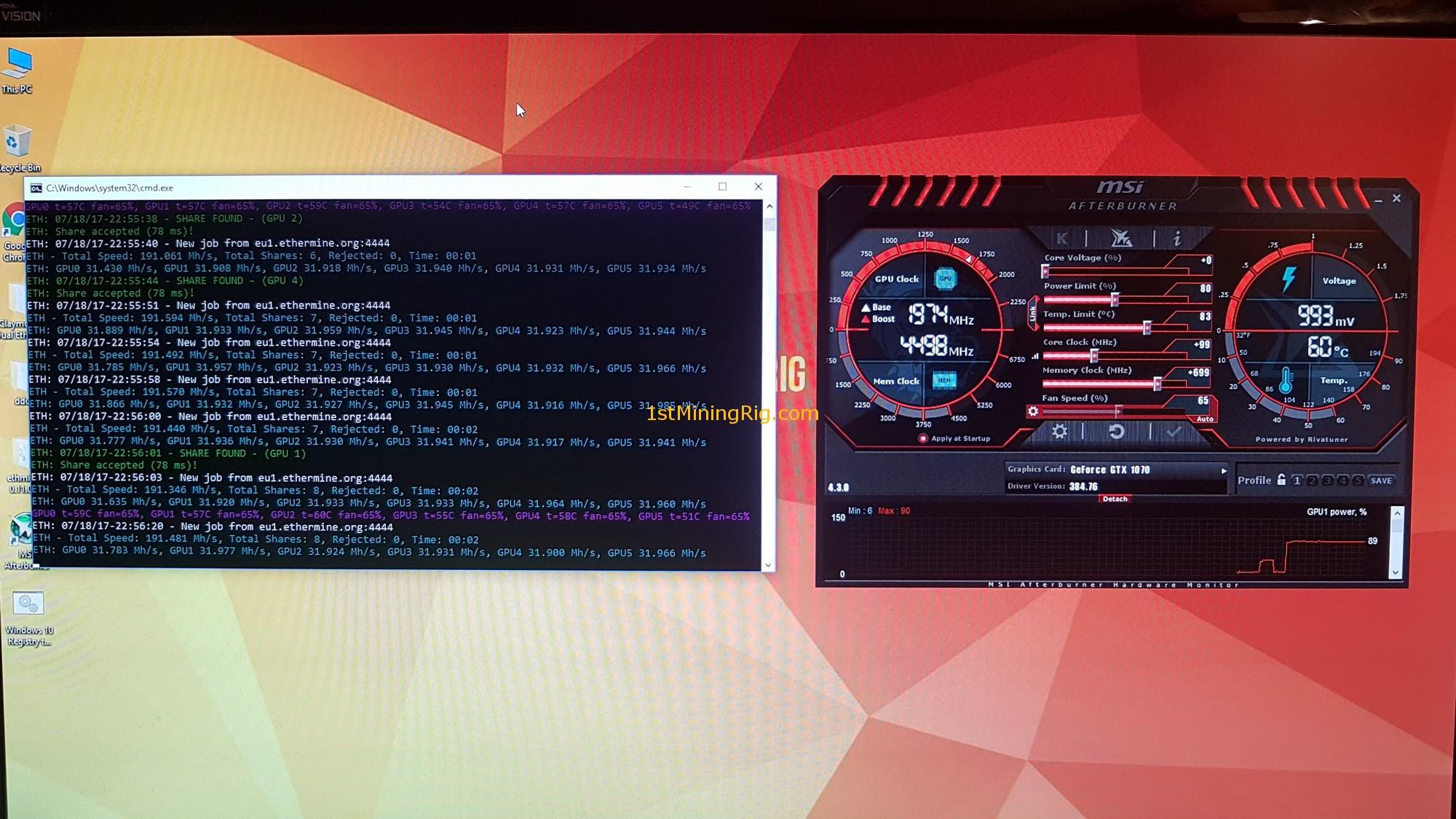 12x ZOTAC GTX 1080 AMP! Extreme Mining System + GPU tweaks